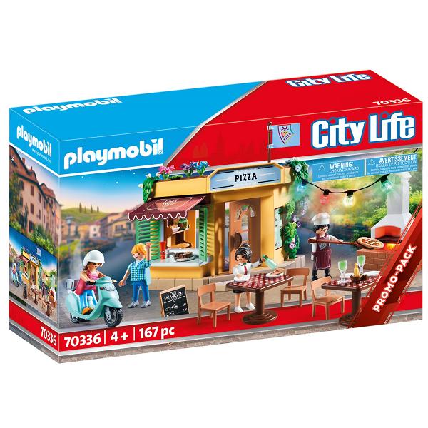 Image of Pizzeria med gårdhave - PL70336 - PLAYMOBIL City Life (PL70336)