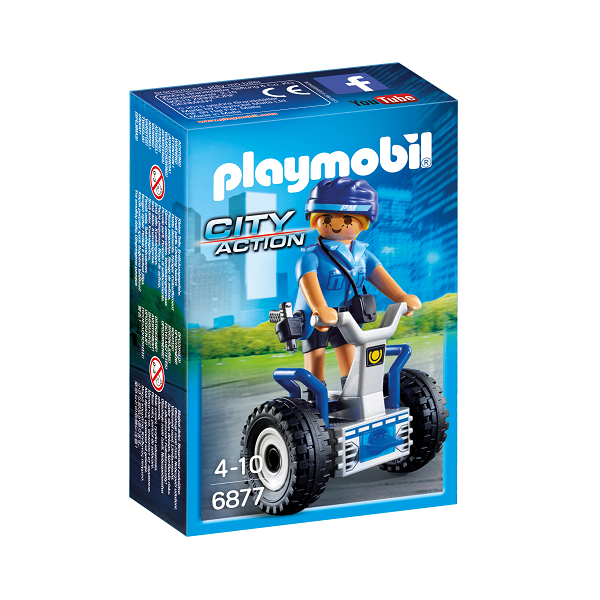 Image of   Politibetjent med Segway - PL6877 - Playmobil City Action