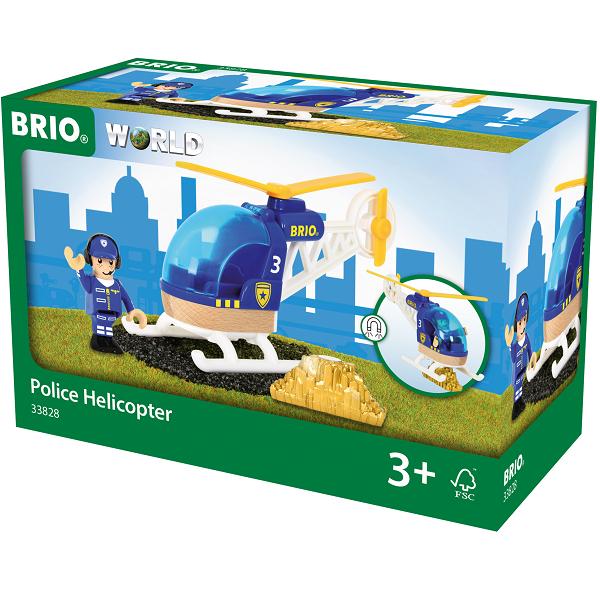 Politihelikopter - 33828 - BRIO