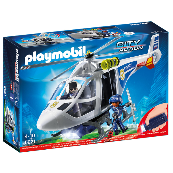 Image of Politihelikopter med LED-søgelys - PL6921 - Playmobil City Action (PL6921)