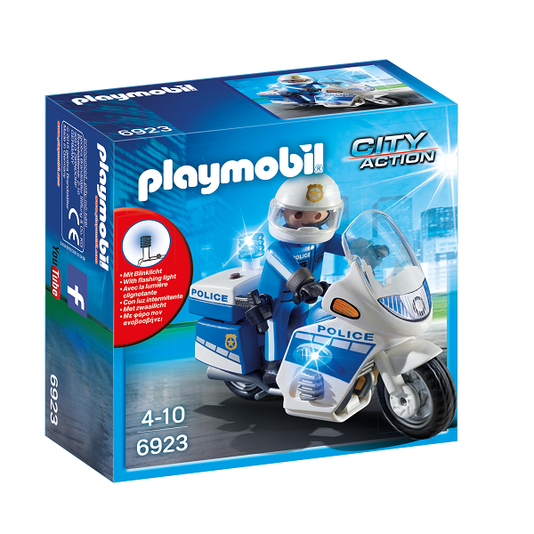 Image of Politimotorcykel med LED-lys - PL6923 - Playmobil City Action (PL6923)