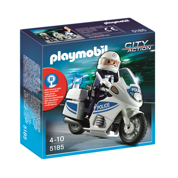 Image of   Politimotorcykel - 5185 - PLAYMOBIL City Action