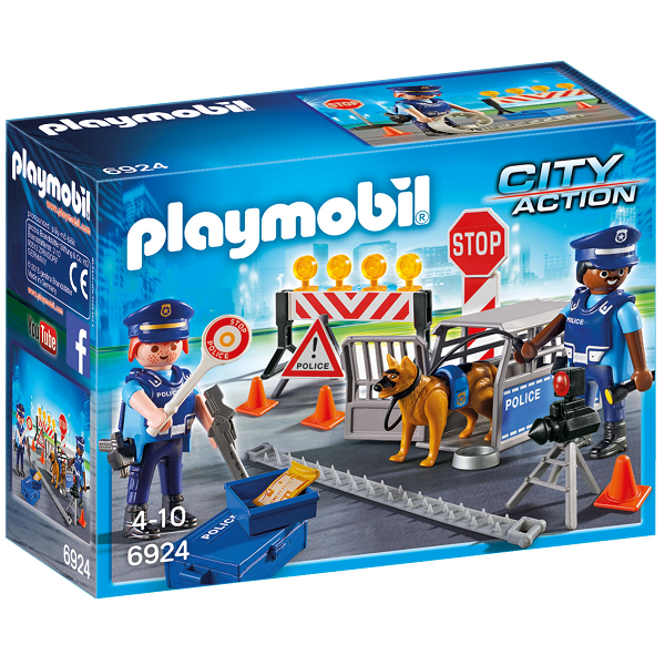 Image of   Politivejspærring - PL6924 - Playmobil City Action
