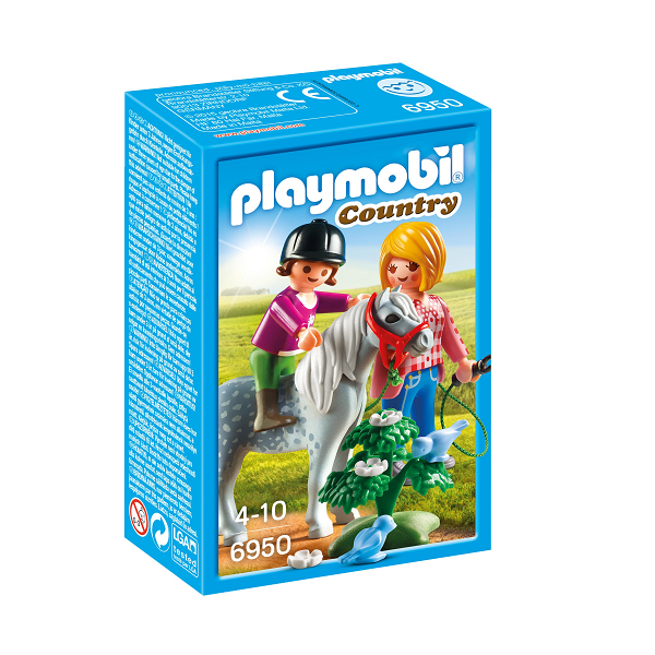 Image of Ponyridning med mor - PL6950 - Playmobil Country (PL6950)