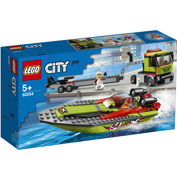Image of Racerbådstransporter - 60254 - LEGO City (60254)