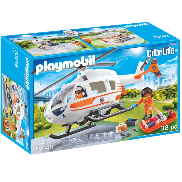 Image of Redningshelikopter - PL70048 - PLAYMOBIL City Life (PL70048)