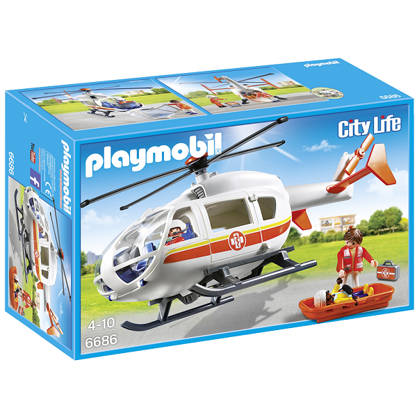 Image of   Redningshelikopter - PL6686 - PLAYMOBIL City Life