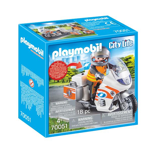Image of   Redningsmotorcykel - PL70051 - PLAYMOBIL City Life