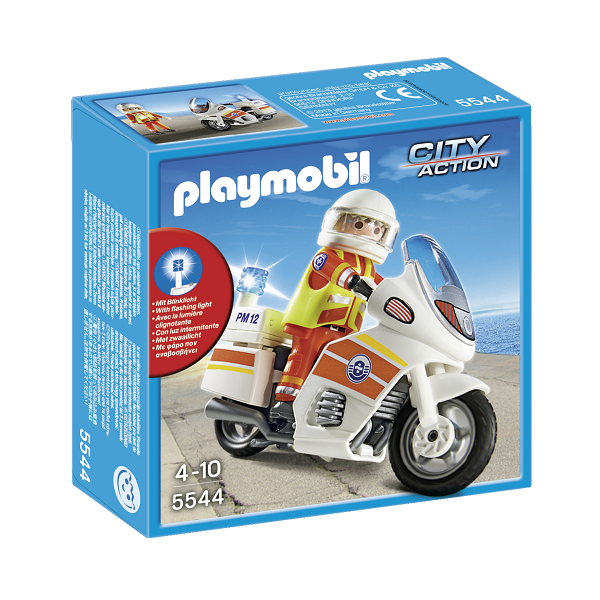 Image of Redningsmotorcykel- 5544 - PLAYMOBIL City Action (PL5544)