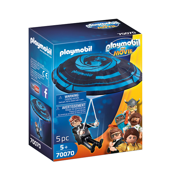 Image of Rex Dasher med faldskærm - PL70070 - PLAYMOBIL The Movie (PL70070)