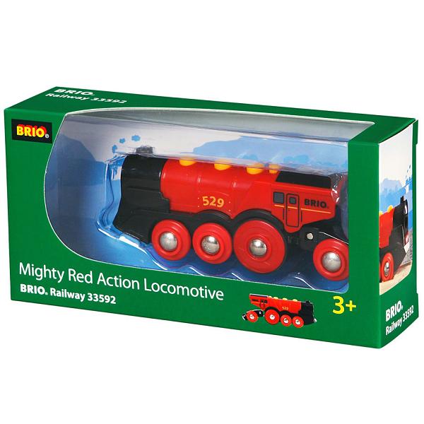 Rødt lokomotiv, batteridrevet - 33592 - BRIO Tog