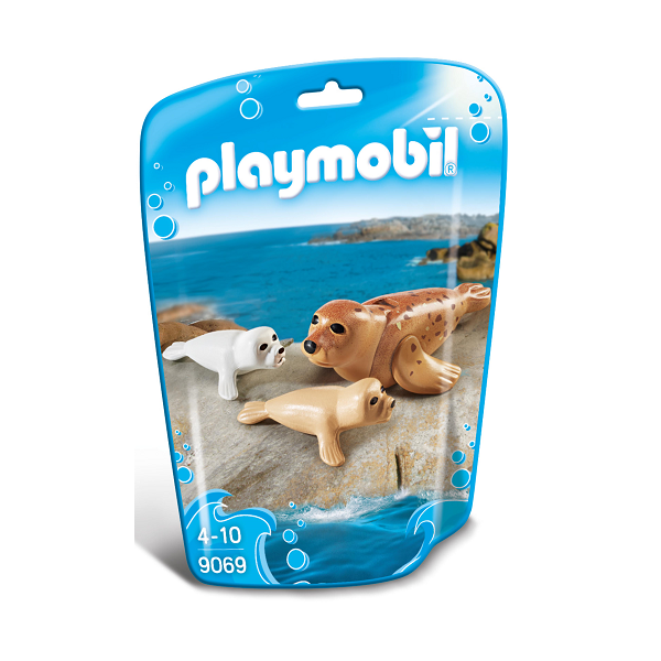 Image of Sæl med unger - PL9069 - PLAYMOBIL Family Fun (PL9069)
