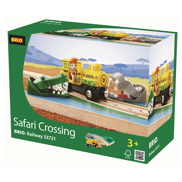 Image of Safari Kryds - 33721 - BRIO Tog (33721)