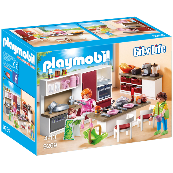 Image of Samtalekøkken - PL9269 - PLAYMOBIL City Life (PL9269)