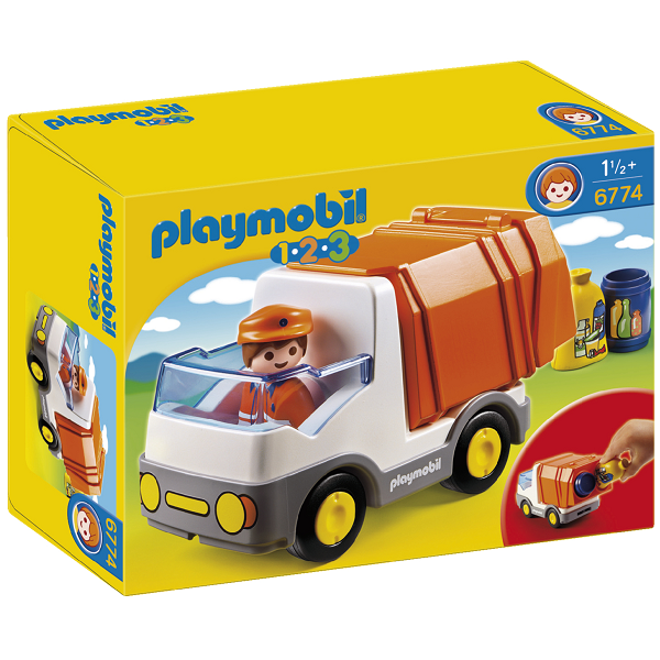 Image of Skraldebil - 6774 - PLAYMOBIL 1.2.3 (PL6774)