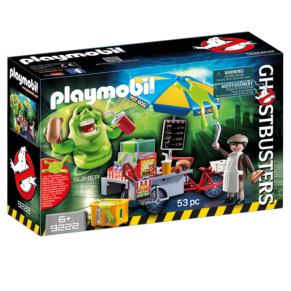 Image of Slimer med hotdog-pølsevogn - 9222 - PLAYMOBIL Ghostbusters (PL9222)