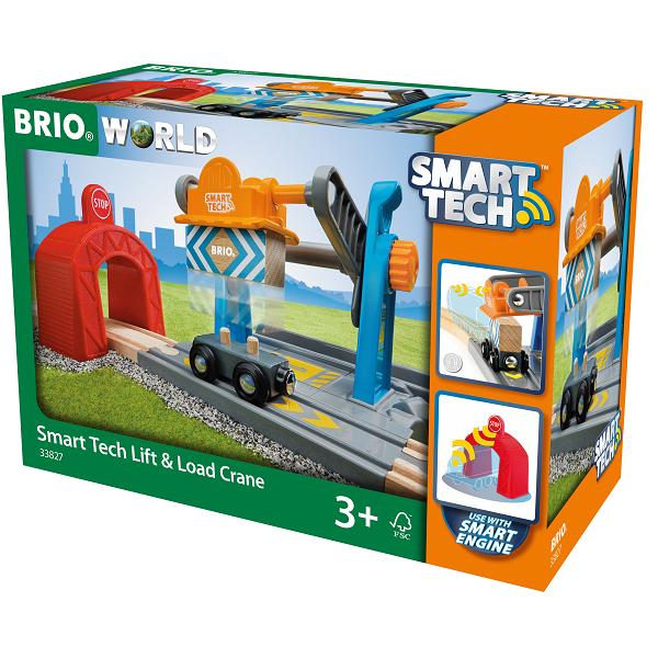 Image of Smart Tech Løfte- og læssekran - 33827 - BRIO (33827)