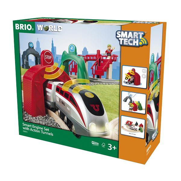 Smart Tech Togbane med action-tunneller - BRIO
