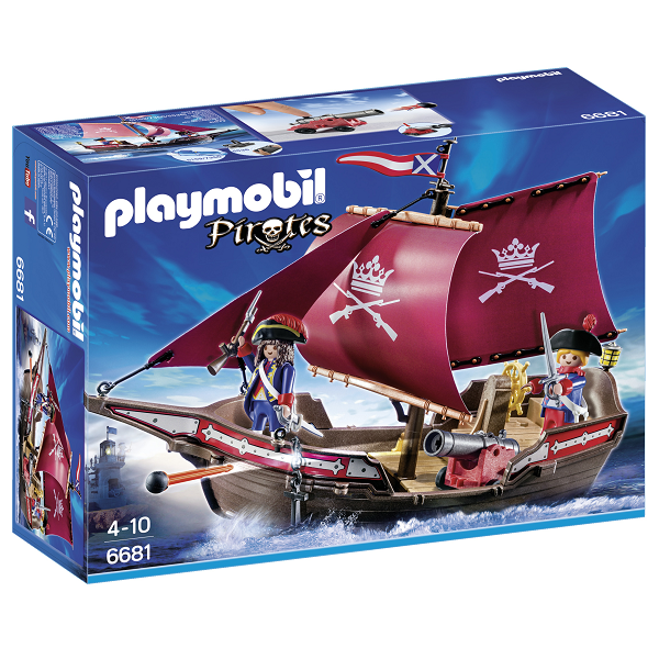Image of Soldatskib med kanoner - PL6681 - PLAYMOBIL Pirates (PL6681)