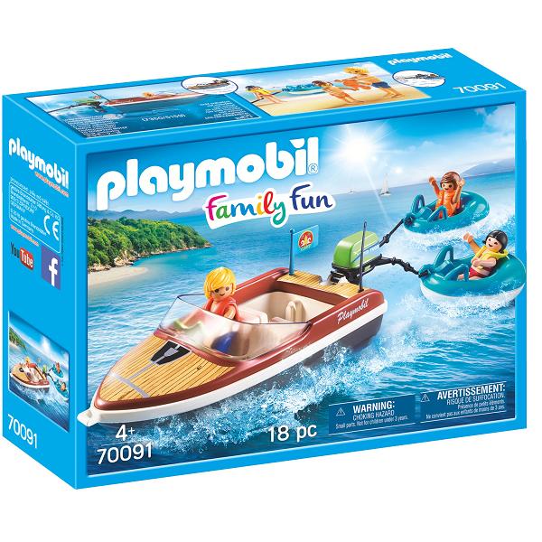 Image of   Speedbåd med baderinge - PL70091 - PLAYMOBIL Family Fun