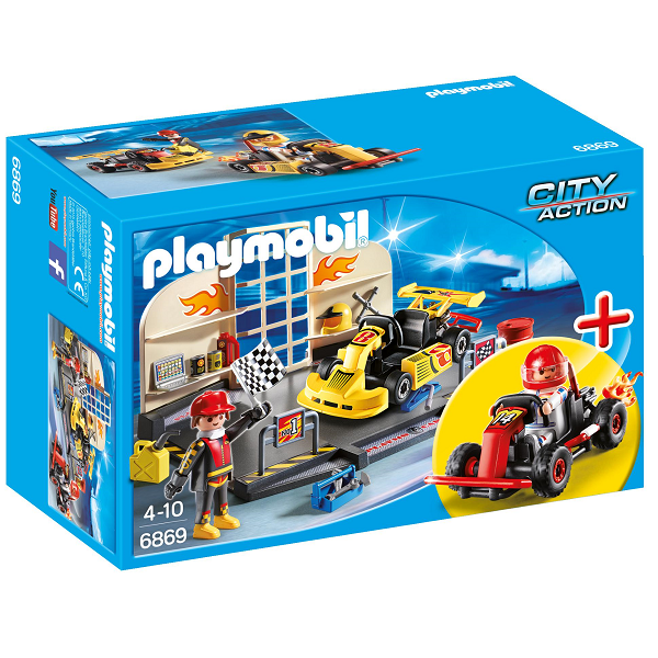 Image of StarterSet Gocartværksted - PL6869 - Playmobil City Action (PL6869)