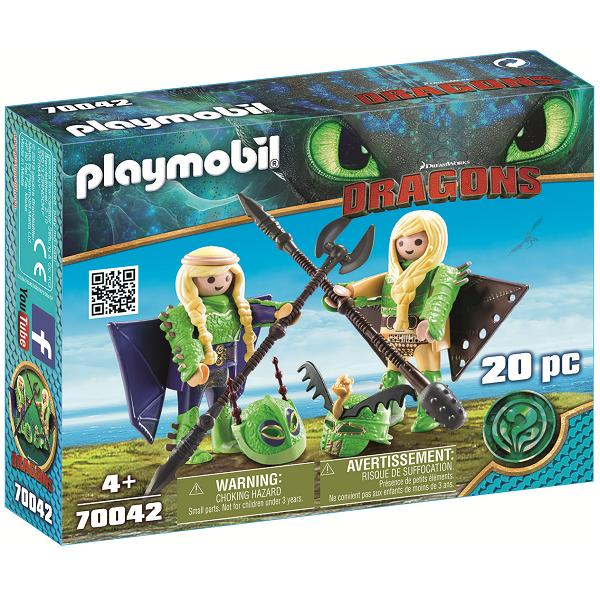 Image of Stenknold og Benknold i flyveuniform - PL70042 - PLAYMOBIL Dragons (PL70042)