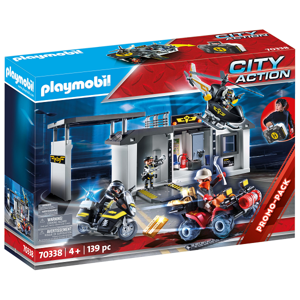 Image of Stor bærbar specialstyrkecentral - PL70338 - PLAYMOBIL City Action (PL70338)