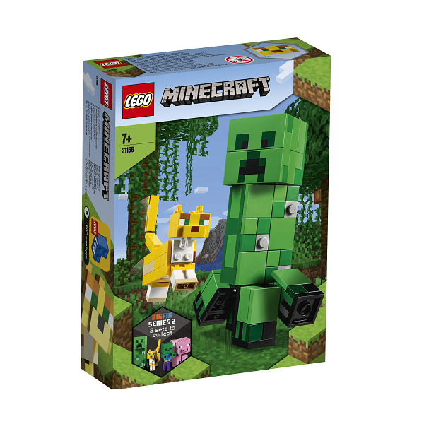 Image of Stor Creeper-figur og ocelot - 21156 - LEGO Minecraft (21156)