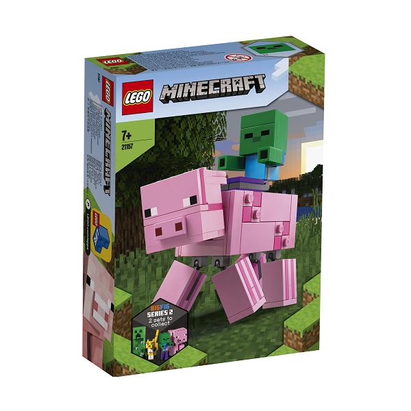 Image of Stor grisefigur med zombieunge - 21157 - LEGO Minecraft (21157)