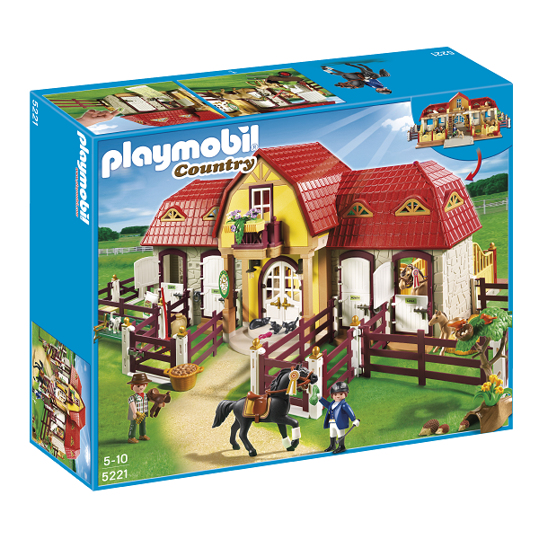 Stor rideskole - 5221 - PLAYMOBIL Country