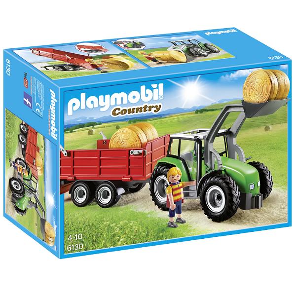 Image of Stor traktor med anhænger - PL6130 - PLAYMOBIL Country (PL6130)