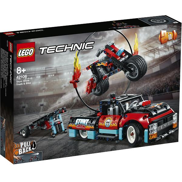 Image of   Stuntshowbil og motorcykel - 42106 - LEGO Technic