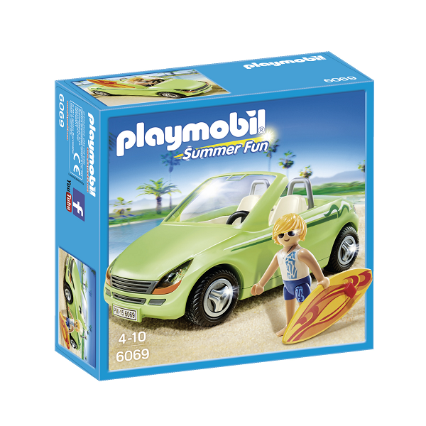 Image of Surfer med cabriolet - PL6069 - PLAYMOBIL Summer Fun (PL6069)