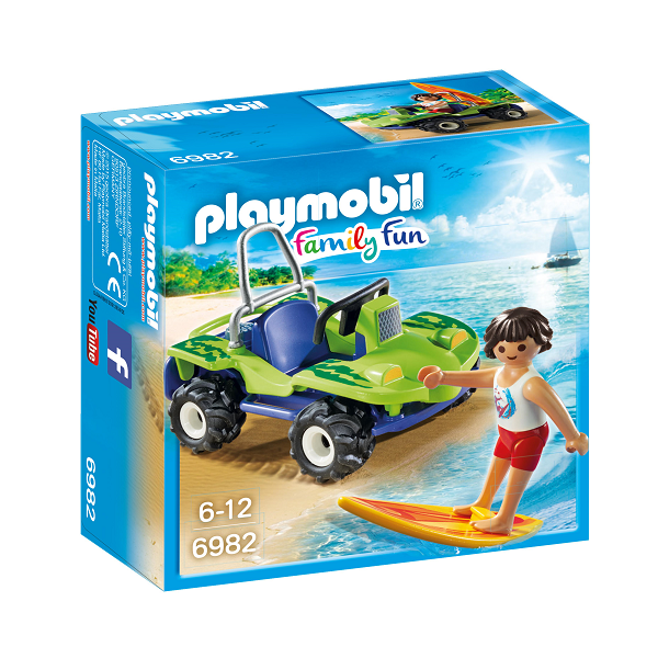 Image of Surfer med firhjulet strandbil - PL6982 - PLAYMOBIL Family Fun (PL6982)