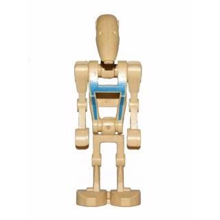 Image of   Battle Droid Pilot med beige krop og blå staferinger