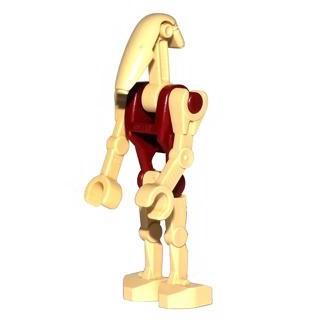 Image of   Battle Droid Security med lige arm og mørkerød krop