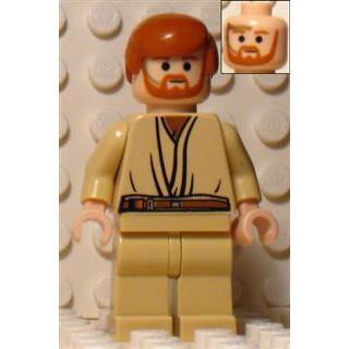 Obi-Wan Kenobi, beige ben, med headset