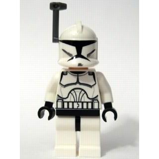 Clone Trooper Clone Wars med mørk blågrå hjelmantenne