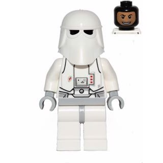 Image of Snowtrooper, Light Bluish Gray Hips, Light Bluish Gray Hands, Printed Head, Torso Back Printing (Star Wars 463)