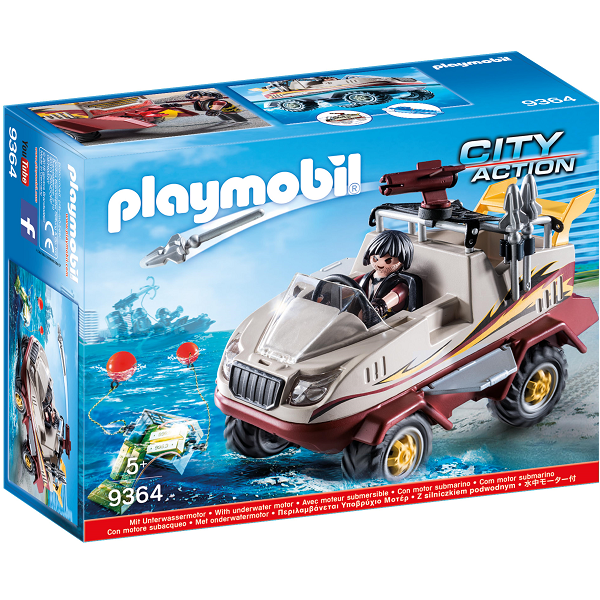 Image of Amfibiekøretøj - 9364 - PLAYMOBIL City Action (9364)