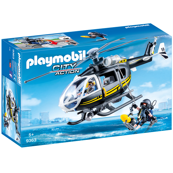 Image of   SWAT-helikopter - 9363 - PLAYMOBIL City Action