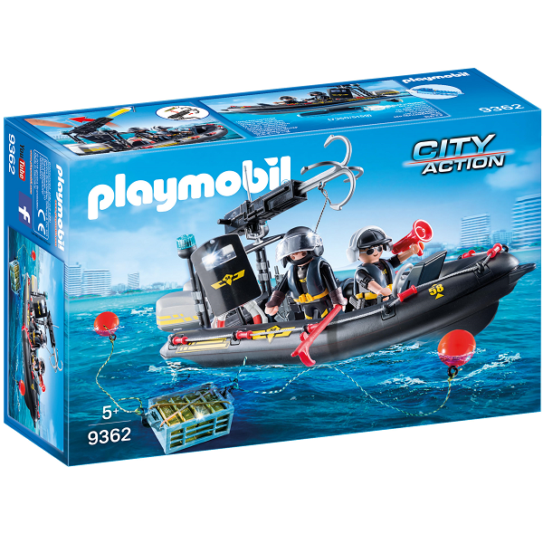 Image of   SWAT-indsatsbåd - 9362 - PLAYMOBIL City Action