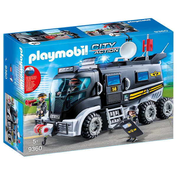 Image of SWAT-truck med lys og lyd - 9360 - PLAYMOBIL City Action (PL9360)