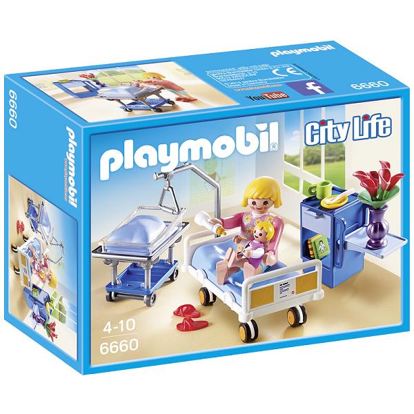 Image of Sygeværelse med vugge - PL6660 - PLAYMOBIL City Life (PL6660)