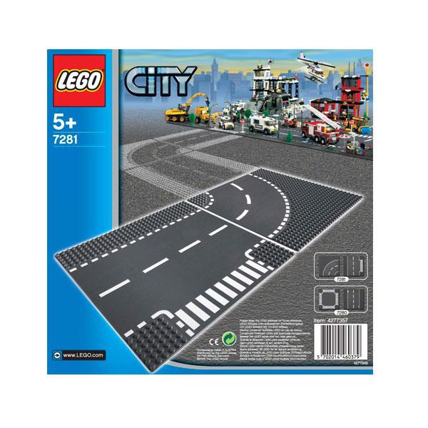 Image of T-kryds & vejsving - 7281 - LEGO City (7281)