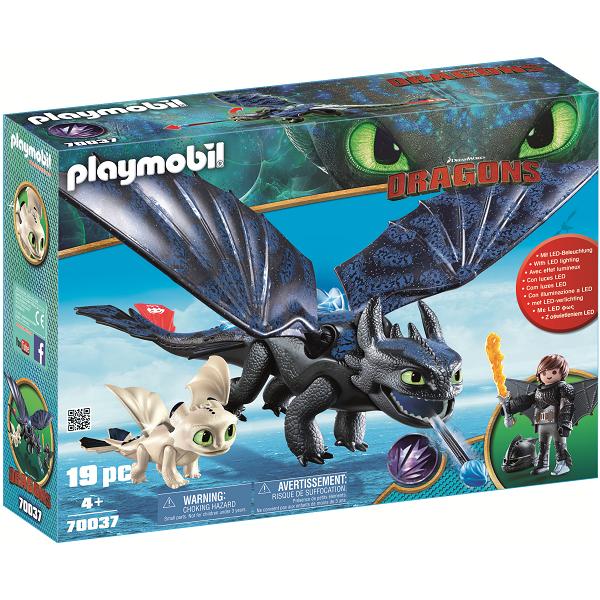 Image of   Tandløs og Hikke med Baby-drage - PL70037 - PLAYMOBIL Dragons