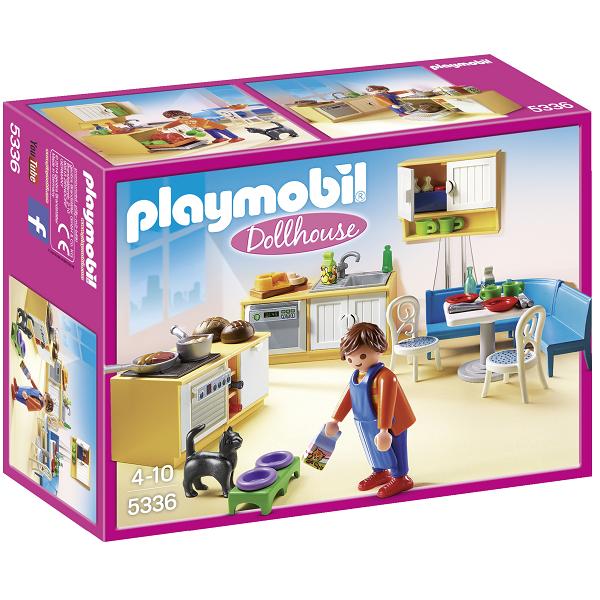 Image of Tekøkken med siddeplads - 5336 - PLAYMOBIL Dollhouse (PL5336)