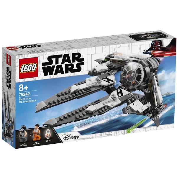 Image of TIE Interceptor med sortklædt pilot - 75242 - LEGO Star Wars (75242)