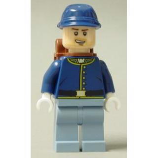 Image of   Cavalry Soldier, rygsæk, brune øjenbryn, skævt smil, skæg - LEGO® Lone Ranger®