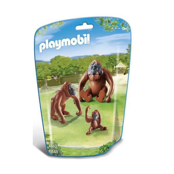 Image of To orangutanger med unge - PL6648 - PLAYMOBIL Wild Life (PL6648)